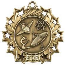 "2 1/4"" Gold Science Ten Star Medal"