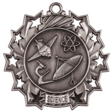 "2 1/4"" Silver Science Ten Star Medal"