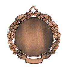 """2 3/4"""" Antique Bronze Leaf 2"""" Insert Holder Medal"""