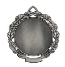 """2 3/4"""" Antique Silver Leaf 2"""" Insert Holder Medal"""