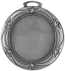 "2 3/4"" Antique Silver Star 2"" Insert Holder Medal"