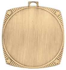"""2 1/8"""" Bright Gold Square Star 2"""" Insert Holder Medal"""