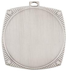 "2 1/8"" Bright Silver Square Star 2"" Insert Holder Medal"
