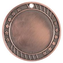 """2 3/4"""" Antique Bronze 12-Star 2"""" Insert Holder Medal"""
