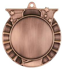 """2 3/4"""" Antique Bronze Victory 2"""" Insert Holder Medal"""