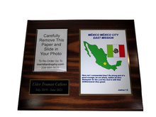 8x10 Full Color Missionary Plaque