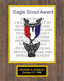 7x9 Eagle Scout Plaque