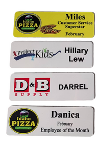 1x3 Aluminum Full Color Name Badge