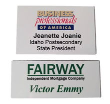 Custom Size Aluminum Full Color Name Badge