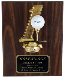 8x10 Walnut-Finish Hole-In-One Plaque