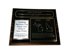 [2 Mission] 8x10 Missionary Plaque w/ Black Plate