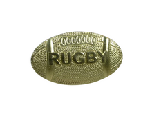 Gold Rugby Metal Chenille Letter Insignia