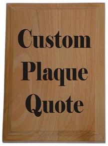 Custom Layout Color Plaque