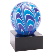 "5"" Two-Tone Blue & White Sphere"