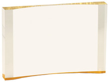 "8"" x 5 1/2"" Gold 1"" Thick Acrylic Crescent"