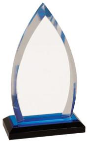 "7 3/4"" Blue Oval Impress Acrylic"