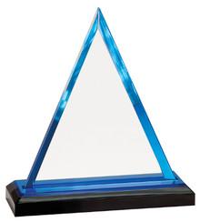 "7 3/4"" Blue Triangle Impress Acrylic"