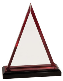 """7 3/4"""" Red Triangle Impress Acrylic"""