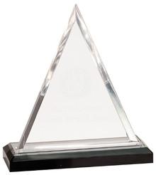 "7 3/4"" Silver Triangle Impress Acrylic"