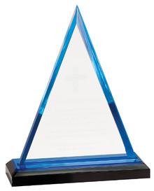 "8 3/4"" Blue Triangle Impress Acrylic"