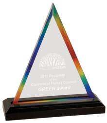 "8 3/4"" Rainbow Triangle Impress Acrylic"