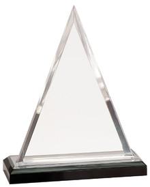 "8 3/4"" Silver Triangle Impress Acrylic"