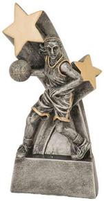 """6"""" Female Basketball Super Star Resin"""