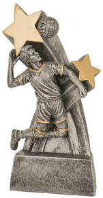 """6"""" Male Volleyball Super Star Resin"""