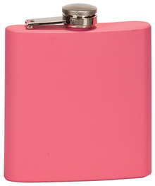 6 oz. Matte Pink Stainless Steel Flask