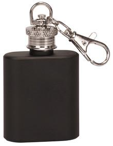 1 oz. Matte Black Flask Key Chain