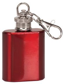1 oz. Gloss Red Flask Key Chain