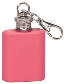 1 oz. Matte Pink Flask Key Chain