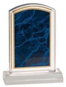 "4"" x 6"" Blue Marbleized Acrylic with 5"" Base"