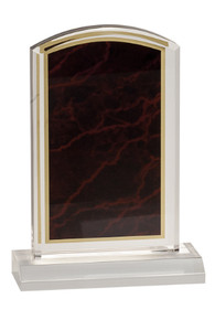 """4"""" x 6"""" Red Marbleized Acrylic with 5"""" Base"""