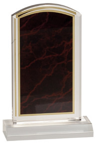 """4"""" x 7"""" Red Marbleized Acrylic with 5"""" Base"""