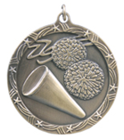 "2 1/2"" Gold Cheerleading Shooting Star Medal"