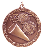 "2 1/2"" Bronze Cheerleading Shooting Star Medal"