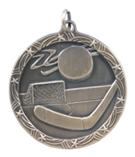 "1 3/4"" Gold Hockey Shooting Star Medal"