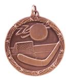 "1 3/4"" Bronze Hockey Shooting Star Medal"