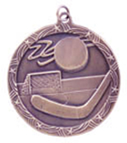 "2 1/2"" Bronze Hockey Shooting Star Medal"
