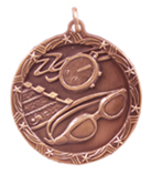 "1 3/4"" Bronze Swimming Shooting Star Medal"