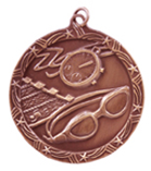 "2 1/2"" Bronze Swimming Shooting Star Medal"