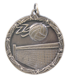"1 3/4"" Gold Volleyball Shooting Star Medal"
