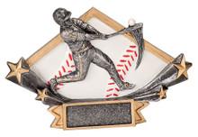 "4 1/4"" x 6 1/4"" Male Baseball Diamond Star Resin"