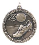 """1 3/4"""" Gold Soccer Shooting Star Medal"""