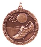 """1 3/4"""" Bronze Soccer Shooting Star Medal"""