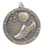 "2 1/2"" Gold Soccer Shooting Star Medal"