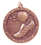 "2 1/2"" Bronze Soccer Shooting Star Medal"