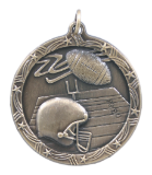 "1 3/4"" Gold Football Shooting Star Medal"