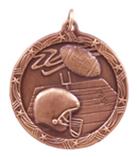 "1 3/4"" Bronze Football Shooting Star Medal"